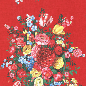 Ayaanle Red Dutch Painters Floral 341042