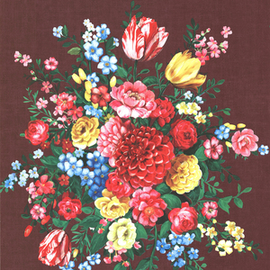 Ayaanle Burgundy Dutch Painters Floral 341043