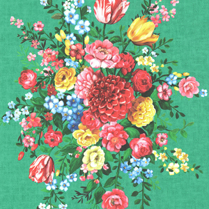 Ayaanle Green Dutch Painters Floral 341046