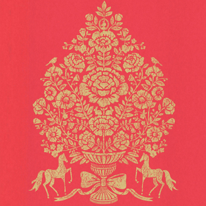 Till Red President Damask 341051