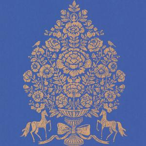 Till Dark Blue President Damask 341053