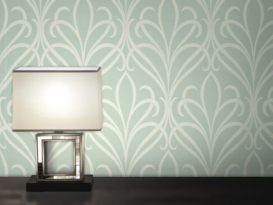 Lalique Green Nouveau Damask 482-DL31068
