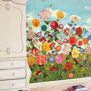 Wild Flowerland Mural 341085