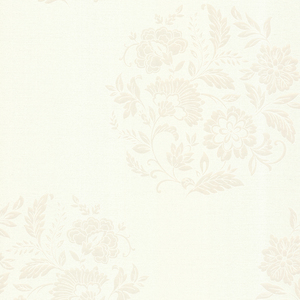 Velde White Floral Motif 482-DL31076