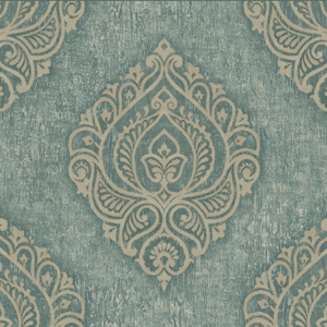 Theodor Dark Green Damask Medallion OM91202