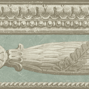 Terentius Grey Carved Marble Border OM90752B