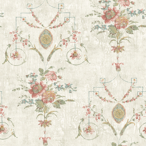 Naples Salmon Floral Fresco OM90901