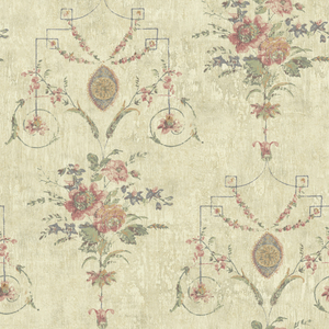 Naples Taupe Floral Fresco OM90909