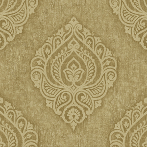 Theodor Gold Damask Medallion OM91205