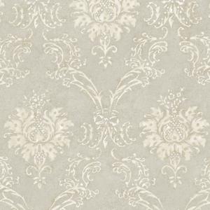 Grey Devon Damask Wallpaper QE14024