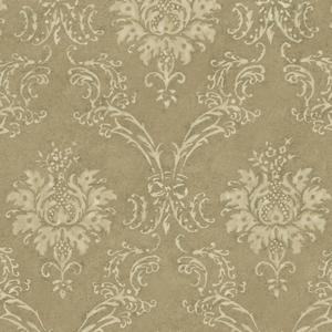 Gold Devon Damask Wallpaper QE14025