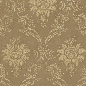 Copper Devon Damask Wallpaper QE14026