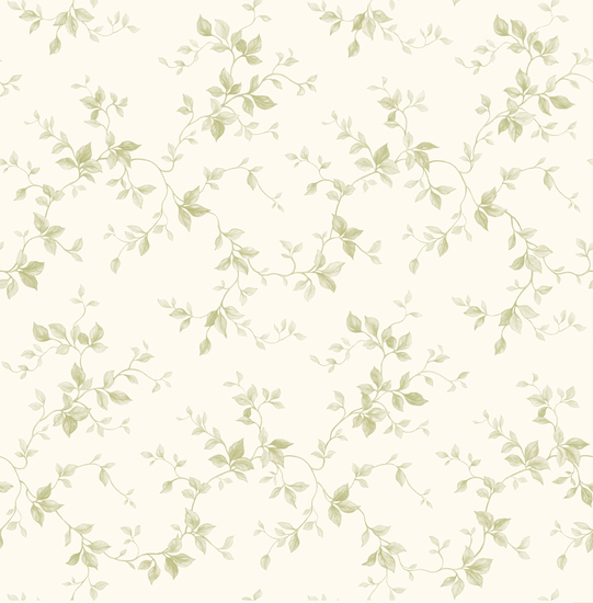 Sandra Cream Leaf Ivy Toile PUR21574