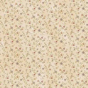 Calico Sand Busy Floral Toss PUR44003