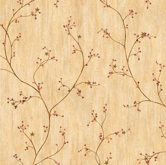 Felicia Wheat Star Berry Vine PUR44033