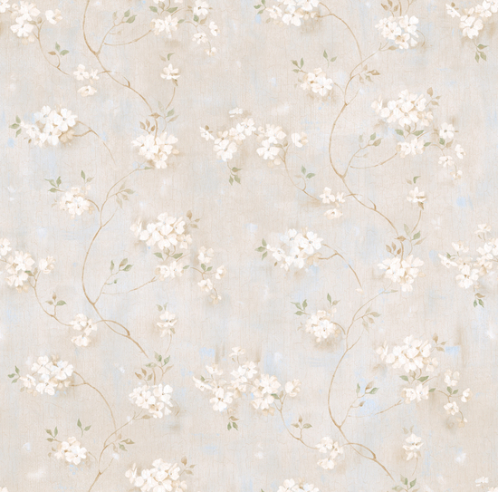 Braham Grey Country Floral Scroll PUR44102