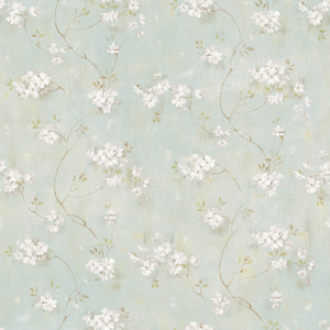 Braham Blue Country Floral Scroll PUR44104