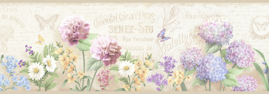 Ellyne Grey Postal Springtime Portrait Border PUR44522B