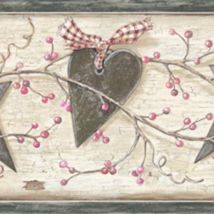 Dorothy Sand Star Heart Sprig Border PUR44532B