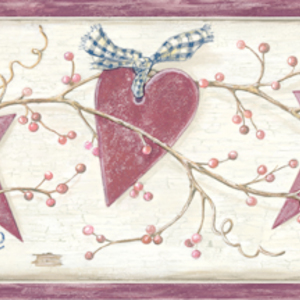 Dorothy Rose Star Heart Sprig Border PUR44533B