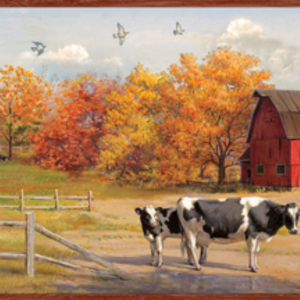 Jethro Red American Farmer Portrait Border PUR48431B