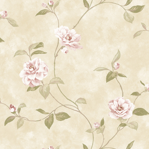 Cream Rosaline Floral Wallpaper QE14032