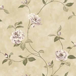 Beige Rosaline Floral Wallpaper QE14033