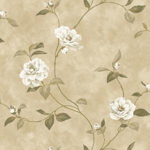 Brown Rosaline Floral Wallpaper QE14034