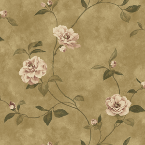 Espresso Rosaline Floral Wallpaper QE14035