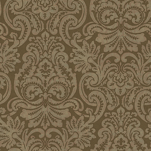 Brown Dante Damask Wallpaper QE14082
