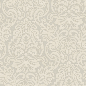 Taupe Dante Damask Wallpaper QE14084