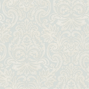 Silver Dante Damask Wallpaper QE14085
