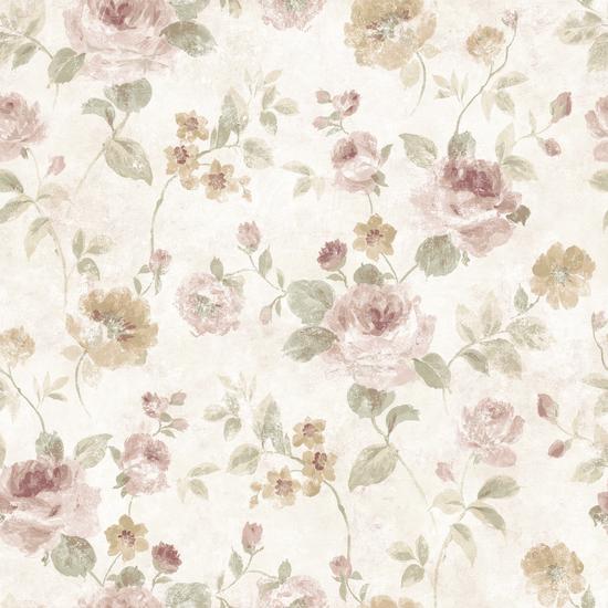 White Larkin Wallpaper QE14094