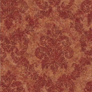 Dark Red Dreamy Damask Wallpaper QE19164