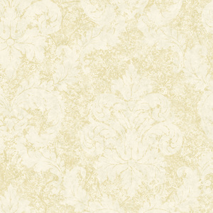 Off-White Dreamy Damask Wallpaper QE19169