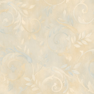Blue Contemporary Acanthus Wallpaper QE19415