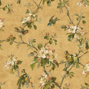 Gold Birds Of Versailles Wallpaper QE58324