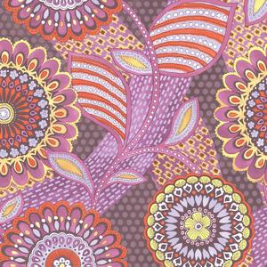 Catalunya Red Kaleidoscope Floral Wallpaper 341506