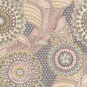 Catalunya Blush Kaleidoscope Floral Wallpaper 341509