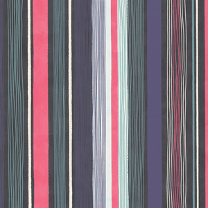 Estática Ebony Modern Stripe Wallpaper 341510