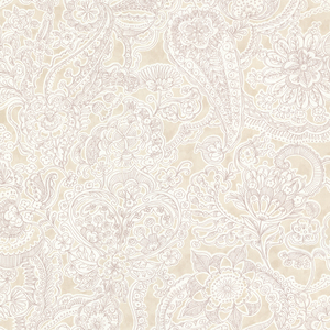 Barcelona Sand Paisley Wallpaper 341527