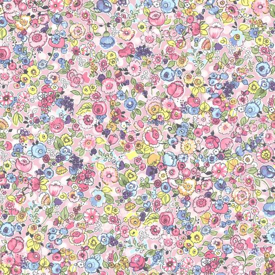 Pradera Pink Vintage Floral Wallpaper 341530
