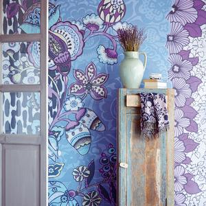 Tiger Violet Floral Patchwork 341585