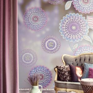 Tournaluna Violet Floral Medallion 341600