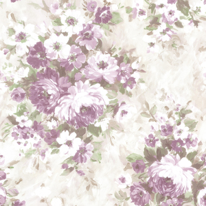 Belle Purple Floral Bouquet Wallpaper 2605-21601