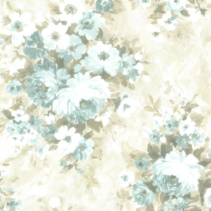 Belle Blue Floral Bouquet Wallpaper 2605-21602