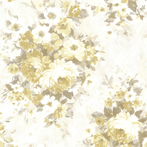 Belle Yellow Floral Bouquet Wallpaper 2605-21603