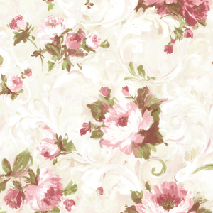 Jasmine Rose Floral Scroll Wallpaper 2605-21604