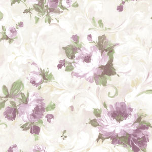 Jasmine Purple Floral Scroll Wallpaper 2605-21605