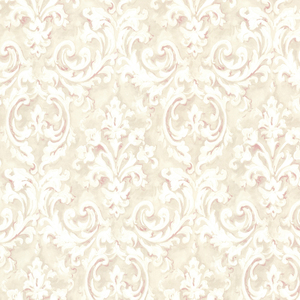 Aurora Rose Damask Wallpaper 2605-21608